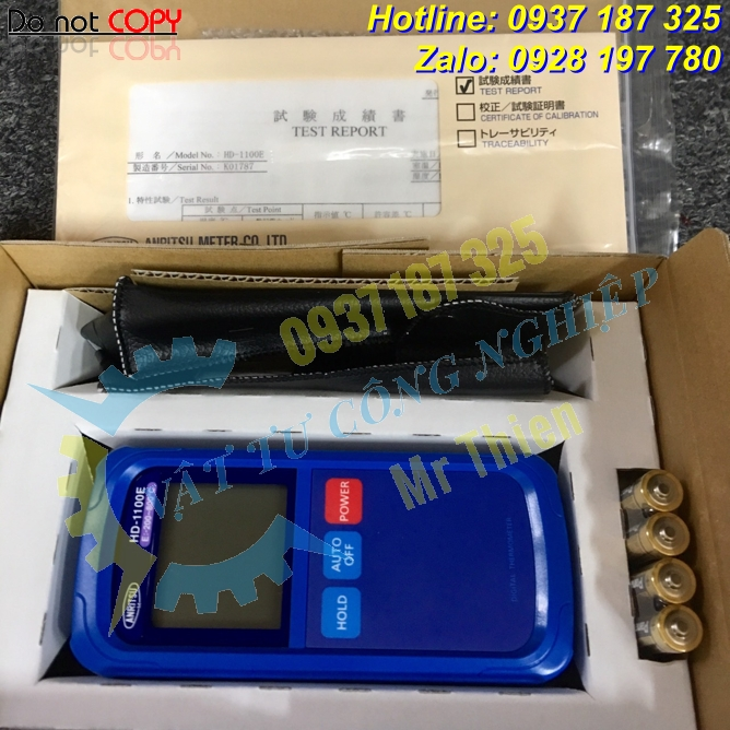 HD-1250K , Anritsu Vietnam , Thiết bị đo nhiệt độ cầm tay , - 5